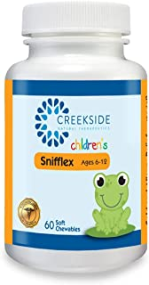 Snifflex 6-12 - All Natural Cold and Allergy Relief for Children Ages 6-12; Quercetin, Bromelain, NAC, Vitamin C and Elderberry