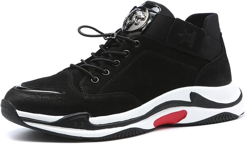 GLSHI Chaussures de course Chaussures de plein air Mode Tulle Décontracté Plein air Marche décontractée à lacets Noir paniers