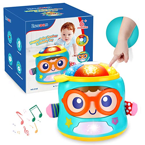 INSOON Infant Toys Tumbler Soother Baby Musical Toys for 6 12 18 Month Old Boys and Girls with Lights Sounds and Songs Baby Educational Learning Toy for 1 Year Old Early Development Games