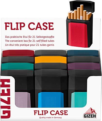 Gizeh Flip Case Etui für selbstgestopfte Zigarettenhülsen 3X Flip Case