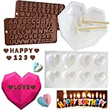 Silicone Heart Mold for Mousse Cake Mold, Set of 6 Non Stick Heart Shaped Silicone Mold for...