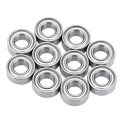 BOTEGRA Mini Chrome Steel Bearing, Small and Exquisite Printer Bearing 5x10x4mm/0.2x0.39x0.16inch Practical for 3D Printer