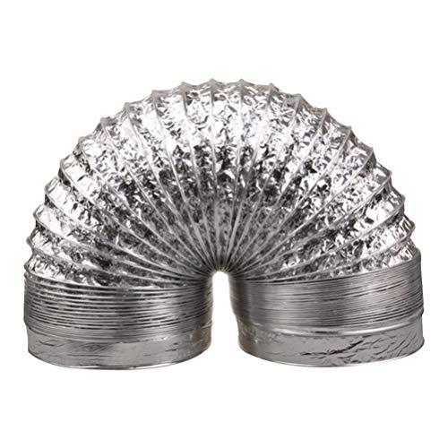 Cabilock Abluftschlauch 80mm 2m Flexschlauch Aluminiumfolie Flexibler Luftschlauch Temperaturwiderstandsfähigkeit Doppelschicht Belüftung Für Klimaanlagen Wäschetrockner Dunstabzugshaube Zelttrockner