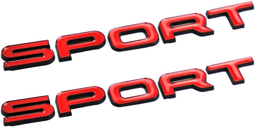 CARRUN SPORT Emblem 3D Metal Badge Car Side Fender Rear Trunk Car Sticker Decal For Dodge Honda Nissan Kia Chevrolet Range Rover Red-Black