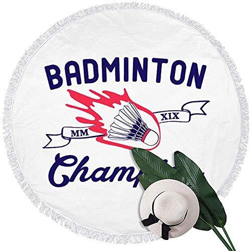 EXking Badminton Cham-pion strandhanddoek van microvezel, Terry Beach Roundie Circle