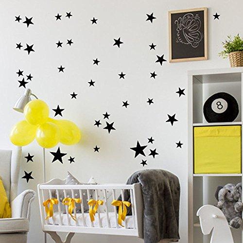 Zegeey 34 Stücke Stern Abnehmbare Art Vinyl Wandbild Home Room Decor Kinderzimmer Wandaufkleber