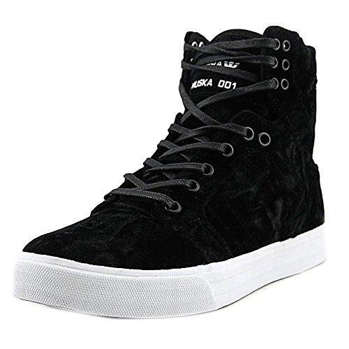 SUPRA Skytop – Zapatillas para Mujer, Negro/Blanco-Blanco, 10 M US