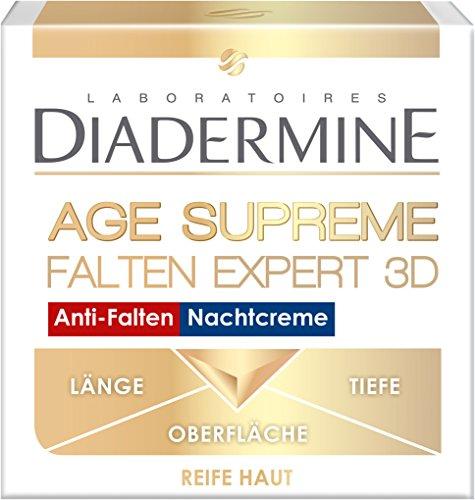 Diadermine Falten Expert 3D Nachtcreme, 3er Pack (3 x 50 ml)