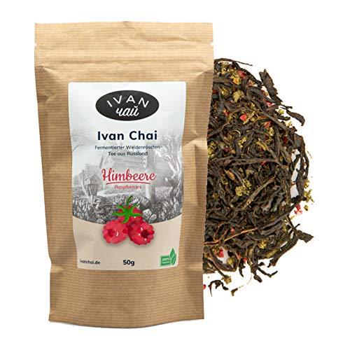 Ivan Chai - Himbeere | Entspannungstee | Fermentierter Weidenröschen Tee Lose | Premium Qualität |Wild & Handverarbeitet
