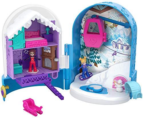 Polly Pocket Cofre refugio de nieve, muñeca con accesorios (Mattel FRY37) , color/modelo surtido