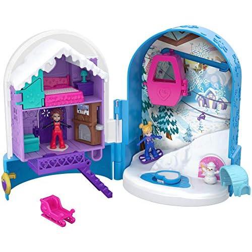 Polly Pocket- Cofanetto Segreti delle Nevi Giocattolo per Bambini 4+Anni, FRY37