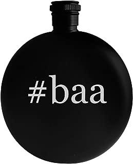 #baa - 5oz Hashtag Round Alcohol Drinking Flask, Black