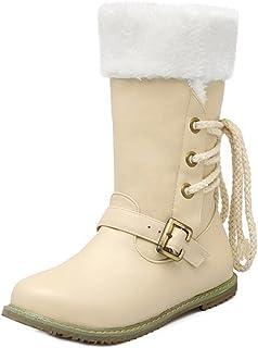 KemeKiss レディース カジュアル ショートブーツ フラット 防寒ブーツ 大きいサイズ