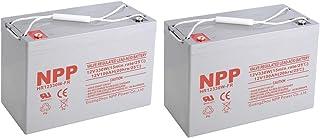 NPP HR12330W FR 12V 330W,12V 100Ah 12Volt 100Amp AGM High Rate Rechargeable Sealed Lead Acid UPS Battery((2 pcs)