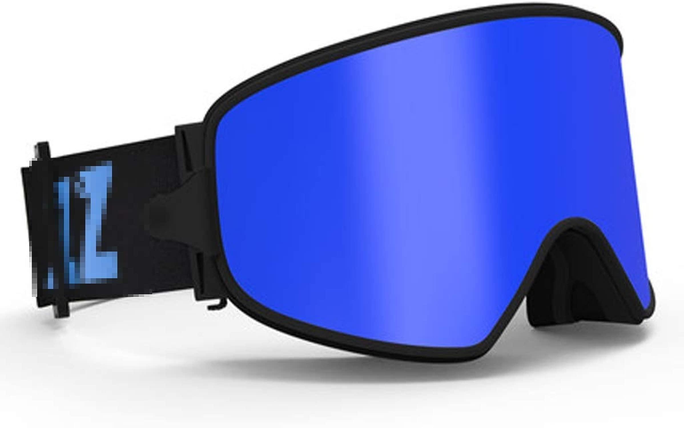YJWOZ Skibrille Anti-Fog-Brille Magnetlinse Myopie Nachtsicht 2-in-One Sport-Augenschutzausrüstung Skibrille (Farbe   E)