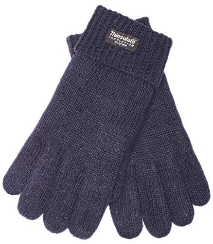 EEM Herren Strick Handschuhe LASSE mit Thinsulate Thermofutter aus Polyester, Strickmaterial aus 100% Wolle; marine, XL