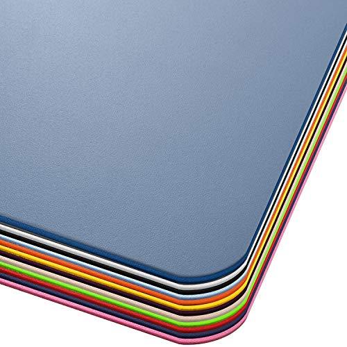Office Marshal® Bodenschutzmatte in Trendfarben   75 x 120 cm für Hartböden   ohne schädliche Weichmacher und PVC   Größe und viele Farben zur Auswahl (Semi-transparent/Milchig)