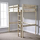 Icarus Double Loft Bunkbed Loft Bunk Bed - Heavy Duty 4ft 6 Double wooden high sleeper bunkbed - CAN BE USED BY ADULTS