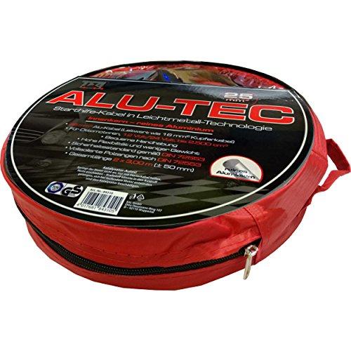TFA Alu-Tec Starthilfe-Kabel 2x 3m Überbrückungskabel Set mit vollisolierten Polzangen erfüllt DIN 72553 inkl. Tasche
