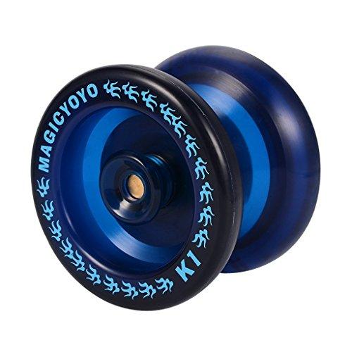 SM SunniMix Professionelle Yoyo Ball Yo Yos Spielzeug, Tolles Geschenk für Kinder - Blau, K1