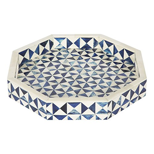 Plateau décoratif octogonal de 30,5 x 30,5 cm pour table basse ou petit-déjeuner - Cadeau de Noël