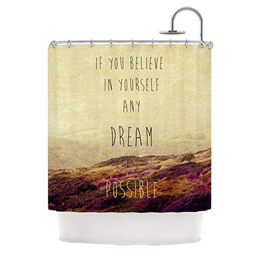 KESS InHouse Ingrid Beddoes Believe Desert Quote Shower...