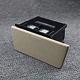 WHLSHR Cenicero Cenicero de Coche Cenicero Taza de Almacenamiento con Consola Caja de Almacenamiento Insert LHD para Coche alol, Beige