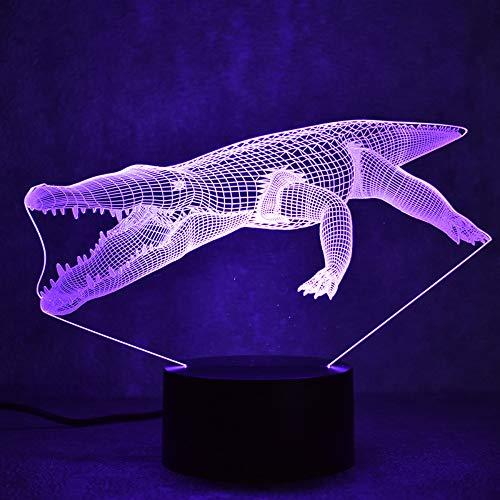 Lampe 3D Led Luminaire Coloré Luminaire USB Lampe De Table Sleeping NightLight Créatif Crocodile Animal Forme Décor Cadeau
