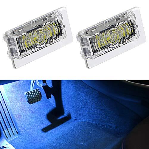 Exnemel - Luces de Repuesto para Interiores para Tesla, luz LED ultrabrillante para Interiores, lámpara de Puerta de Coche, Kit de Luces de Arranque para Tesla Model 3 Model S (Blue,2pcs)