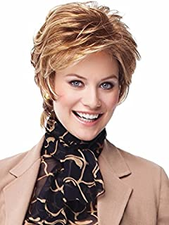Natural Hairpieces Women's Light Brown Short Wig Bangs Natural Comfortable Full Wig