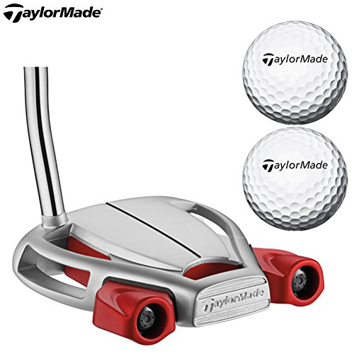 TaylorMade Men's Spider Tour Platnm Putter, Right Hand, Shaft Length 34', Comes with 2 Balls