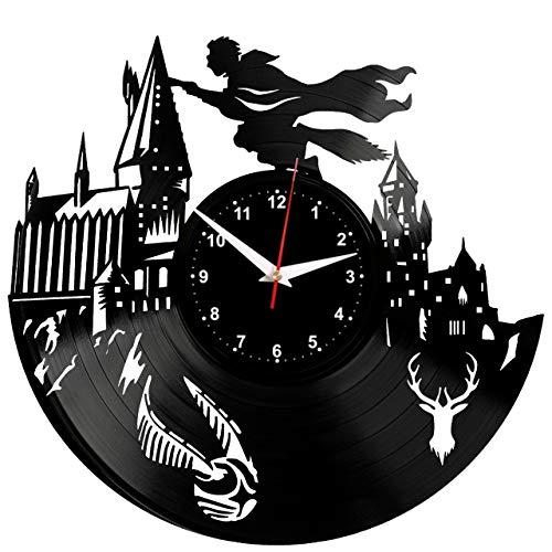 EVEVO Harry Potter Wanduhr Vinyl Schallplatte Retro-Uhr groß Uhren Style Raum Home Dekorationen Tolles Geschenk Wanduhr Harry Potter