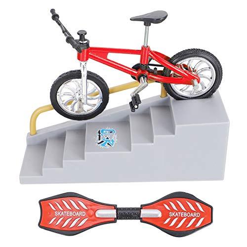 BESPORTBLE Kit de Parque de Skate Mini Juguete de Dedo Tablero de Dedo Rampas Rieles Pequeño Scooter de Dedo Mininatura Columpio Tablero de Juguete Dedo Monopatín Accesorios de Entrenamiento