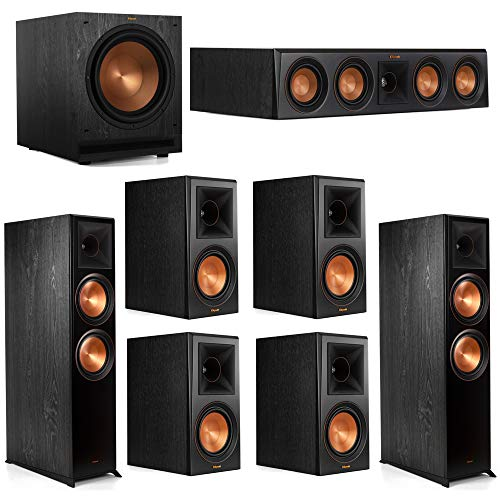 Check Out This Klipsch 7.1 System with 2 RP-8000F Floorstanding Speakers, 1 Klipsch RP-404C Center S...