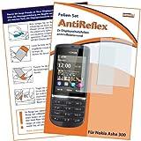 mumbi Schutzfolie kompatibel mit Nokia Asha 300 Folie matt, Bildschirmschutzfolie (2X)