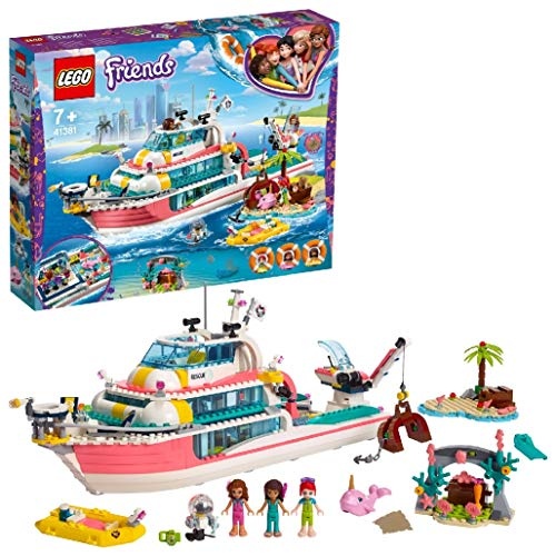 LEGO 41381 Friends Rescue Mission Boat and Lego Island Toy for Kids w...