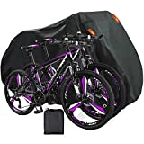 Indeed BUY Bike Cover for 2 Bikes Waterproof Bicycle Cover Outdoor Bike Storage Covers XL 420D Heavy Duty Rain Sun UV Dust Wind Proof for Mountain Road Electric Bike etc (XL-79 L x 43' H x 28' W)