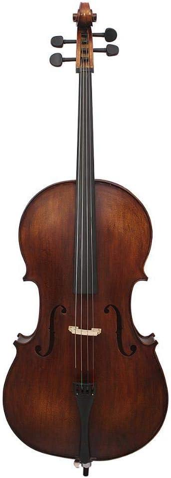 North King Cello Maple Panel Material Tiger Pattern 4/4 Violonchelo Antiguo Gran Instrumento de música Incluyendo Bolsa de algodón