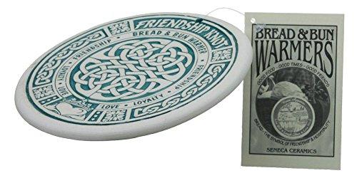 Seneca Ceramics Bread Warmer, Celtic Knot, Green