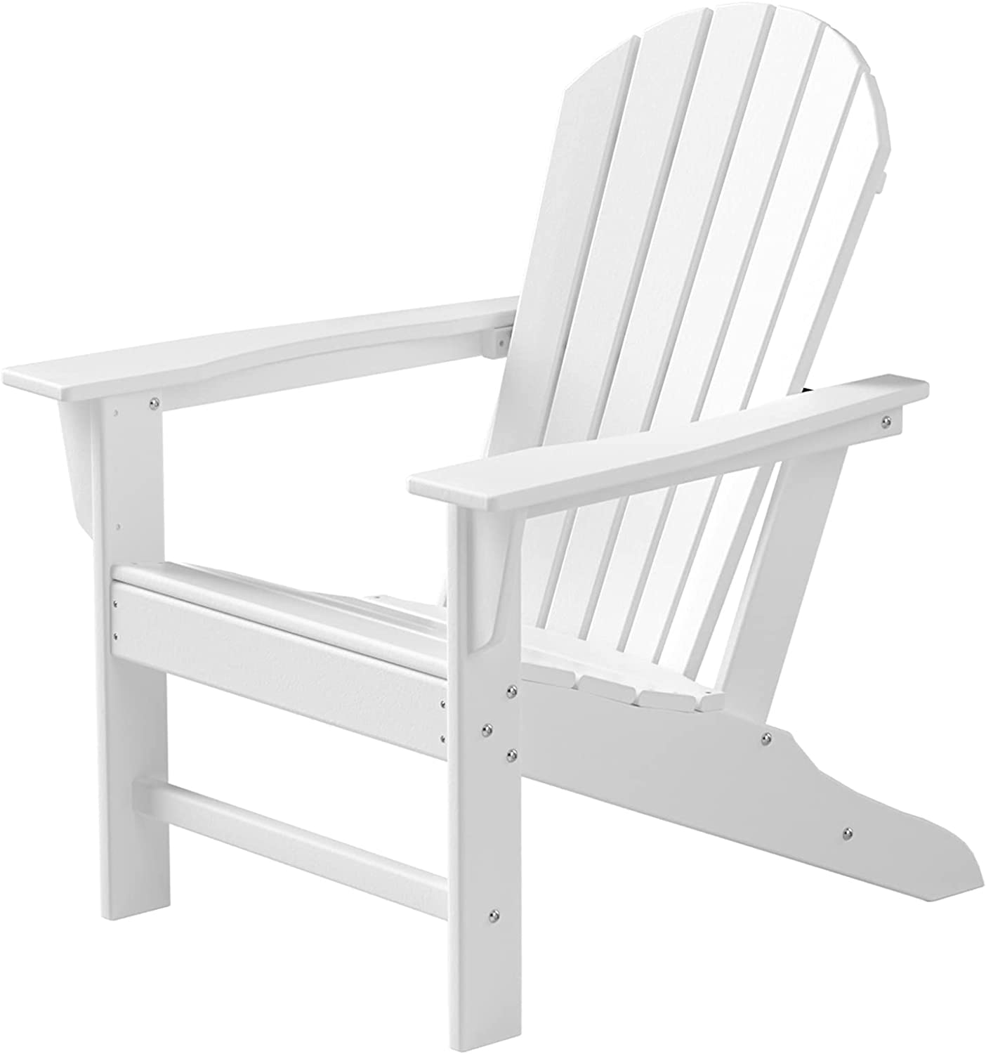 TRYZS Adirondack Chair, Oversized Patio Chair, Outdoor Lounger Lawn Chair, All-Weather| Fade-Resistant| Waterproof| Easy Maintenance, Perfect for Outdoor, Porch, Deck, Garden, and Lawn, Classic White : Patio, Lawn & Garden