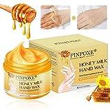 Aaschera per le Mani, Guanti idratanti, Idratanti Maschera Per Le Mani, Maschera Piedi Esfoliante,per riparare la pelle ruvida per donne e uomini, con latte e miele, per la cura delle mani.