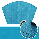 ANAZOZ Tovagliette 2,Tovaglietta Americana PVC 45x30CM,Colore Solido con Ventaglio Blu