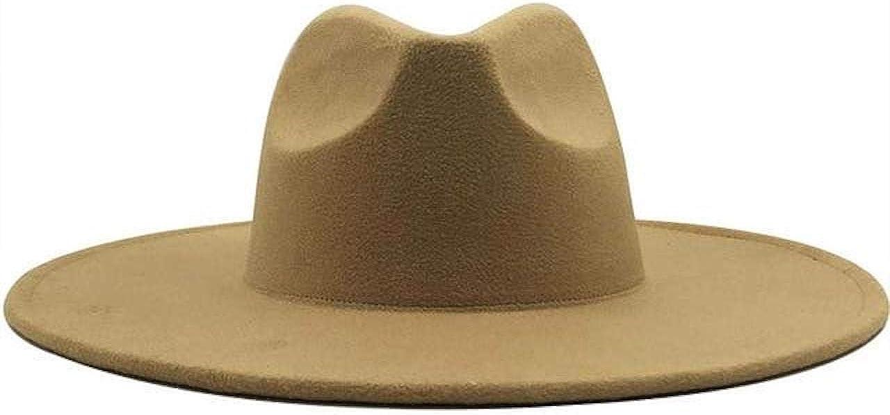 Camel Classic Wide Brim Fedora Hat