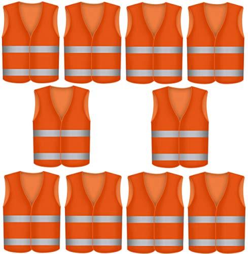 Prowiste 10 Warnwesten Sicherheitsweste Orange Bild