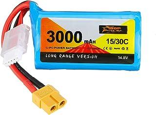 KINGDUO 14.8V 3000Mah 15/30C 4S Li-ION Batterie Prise Xt60 pour Drone Rc