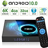 Android 10.0 TV Box, T95 Android TV Box Quad-core CPU 4GB RAM 32GB ROM Support 2.4GHz/5GHz Dual WiFi 3D USB 2.0 Ethernet HDMI 6K Ultra HD Smart TV Media Box