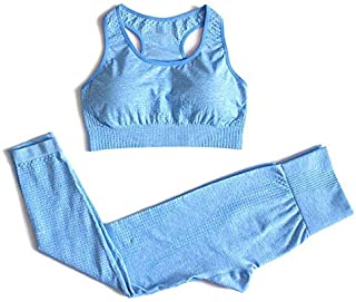 Beiziml 2 Pieces Workout Clothing for Women Padded Sports Bra Gym Leggings Fitness Clothing Sportswear Athletic Pants Yoga...