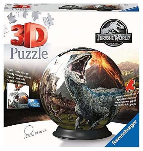 Ravensburger 3D Puzzle 11757 - Puzzle-Ball Jurassic World - 72 Teile - Puzzle-Ball für Dinosaurier-Fans ab 6 Jahren