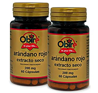 Arándano rojo 5000 mg. (ext. seco 200 mg.) 60 capsulas (Pack 2 unid.)