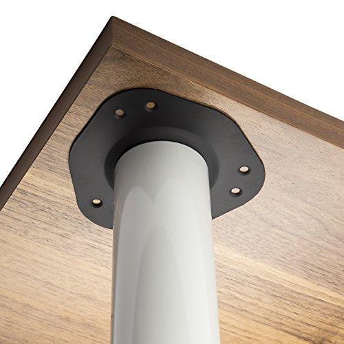 4er Set SO-TECH® Tischbeine/Höhe 820 mm/Höhenverstellbar/Ø 60 mm/WEIß/Tragkraft bis 75Kg je Fuß/Schreibtischbeine Möbelbeine Tischfüße